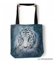 Thoughtful White Tiger - Torba - The Mountain