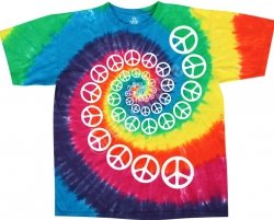 Rainbow Spiral Peace - Liquid Blue