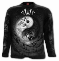 Yin Yang Skulls - Longsleeve Spiral