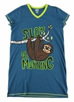 Slow In The Morning Sloth - Koszula Nocna - LazyOne