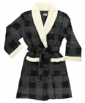 Grey Plaid Bathrobe - Szlafrok - LazyOne
