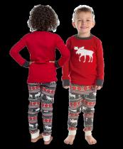Moose Fair Isle - Piżama Dziecięca Długi rękaw - LazyOne