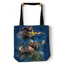 Swedish Moose Collage - Torba - The Mountain
