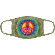 Peace Tie-Dye Spiritual - Maseczka 3-warstwowa