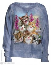 Blue Selfie Cats - Bluza Damska - The Mountain