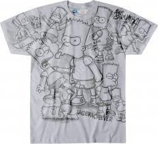 The Simpsons Bart Sketch - Liquid Blue