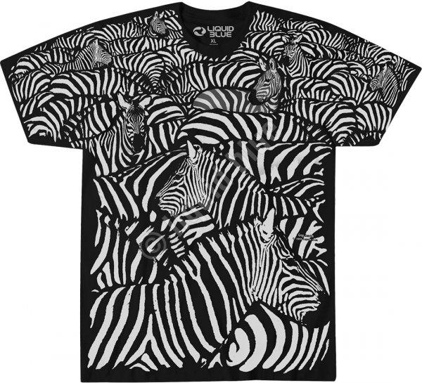 White Zebra - Liquid Blue
