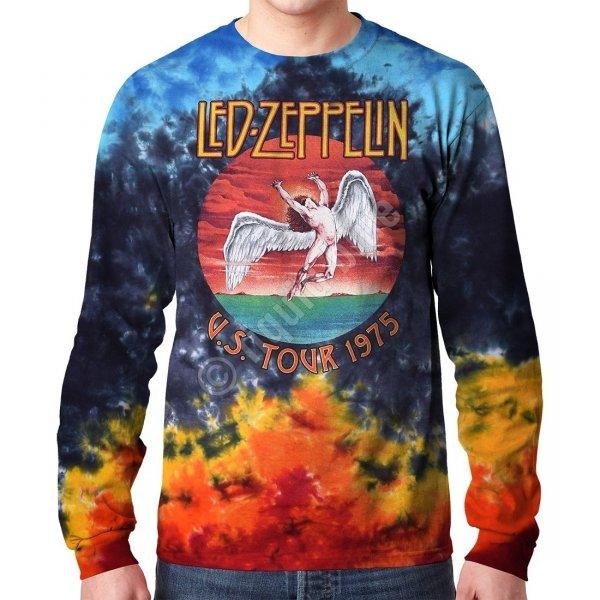 Led Zeppelin Icarus 1975 Longsleeve - Liquid Blue