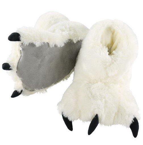 White Bear Paw Slippers - Bačkory LazyOne