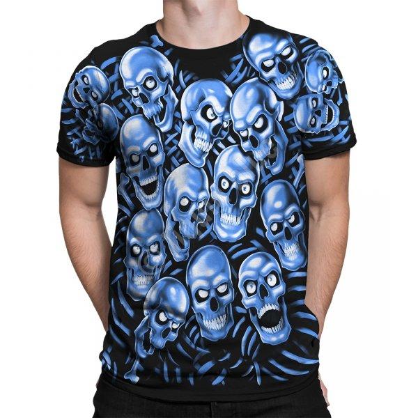 Skull Pile Blue - Glow - Liquid Blue