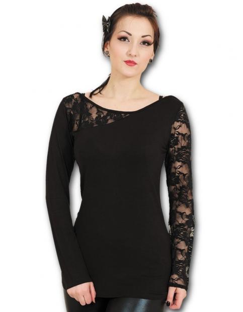 Gothic Elegance - Lace One Shoulder Spiral