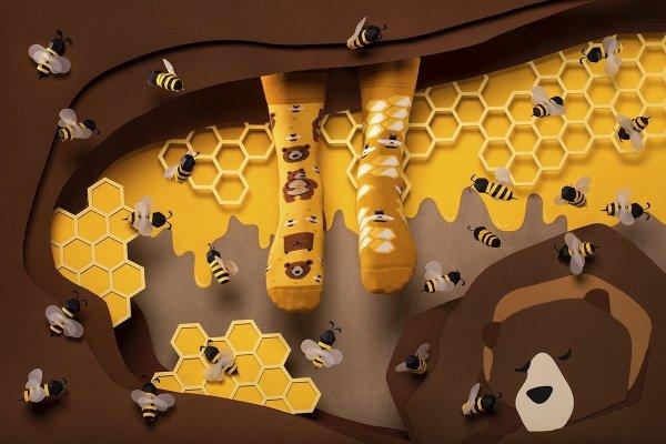 Honey Bear - Krátké Ponožky - Many Mornings