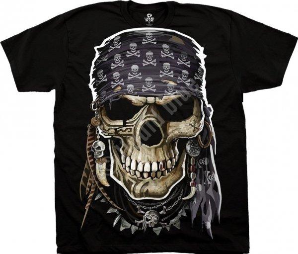 Pirate Skull - Liquid Blue