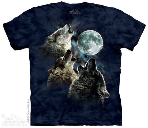 Three Wolf Moon in Blue - The Mountain