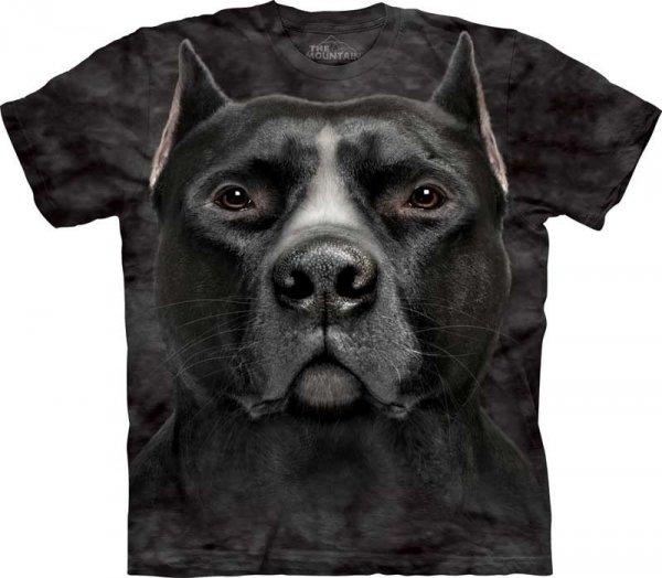 Black Pitbull Head - T-shirt The Mountain