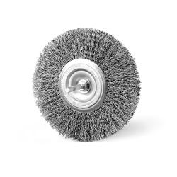 Szczotka tarczowa FI 130 trzpień stalowa (014-ASA)