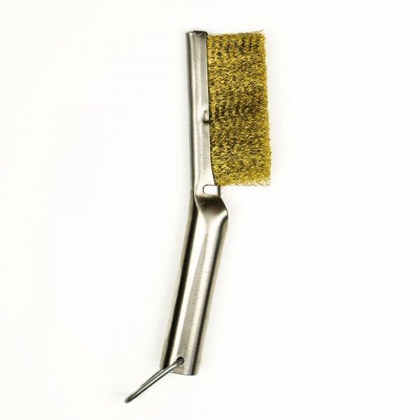 Uniwersalna szczotka ręczna w oprawie metalowej A-110, drut mosiężny