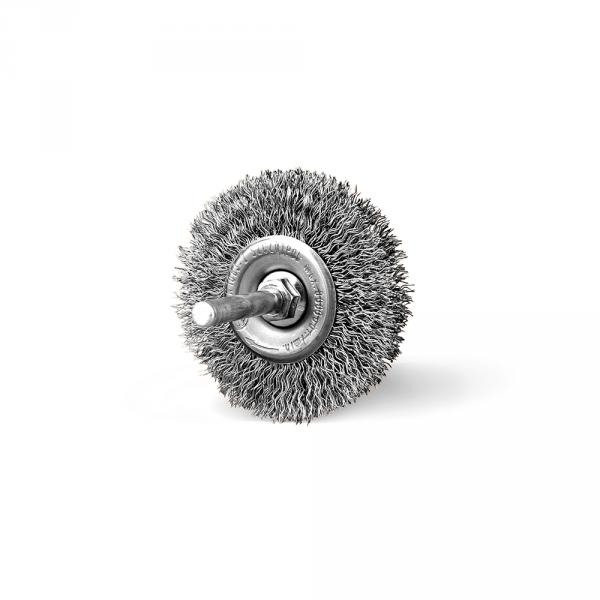 Szczotka tarczowa FI 60 trzpień stalowa (006-ASW)