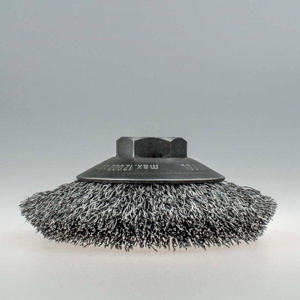 Szczotka tarczowo-kątowa FI 100 nakrętka M14 stalowa