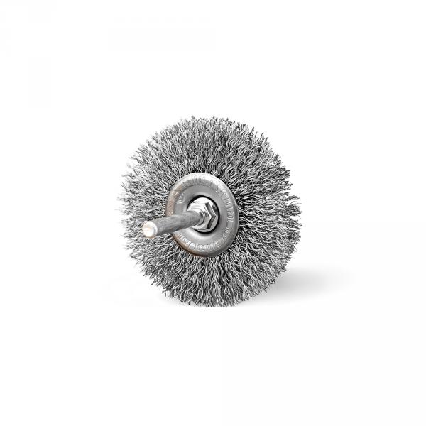 Szczotka tarczowa FI 70 trzpień stalowa (007-ASW)