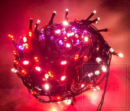 Chromalight Weihnachtsbeleuchtung mit variablen Farben - 12 m lang, mehrfarbig