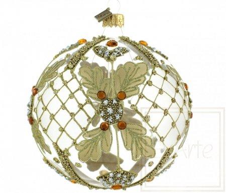 Christbaumkugel 10cm – Goldenes Netz