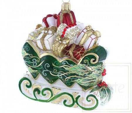 Schlitten mit Geschenken - 12cm