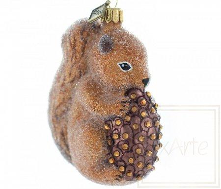 Eichhörnchen mit Zapfen - 10 cm