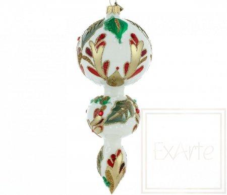 Mundgeblasener Schmuck 19 cm - Weihnachtsfreude
