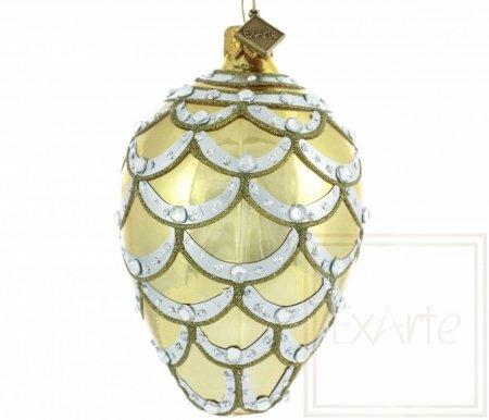 Jajko 11cm - Kaskada w złocie