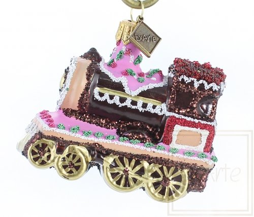 Gingerbread railway engine - 7 cm