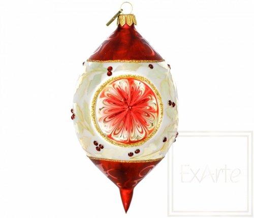 Weihnachtskugel mit Dreifachreflektor - 14cm