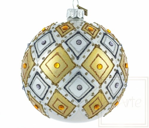 Christbaumkugel 10cm – Golden-Kaleidoskop