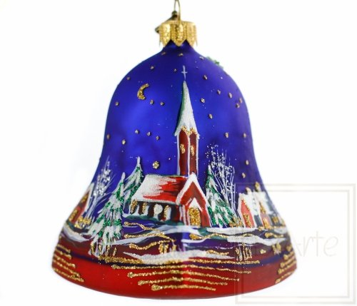 Dzwonek 9cm - Pejzaż z ostrokrzewem