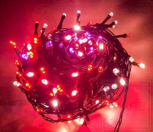 Lampki choinkowe Chromalight z systemem RGB o zmiennych kolorach - długość 12m, wielokolorowe