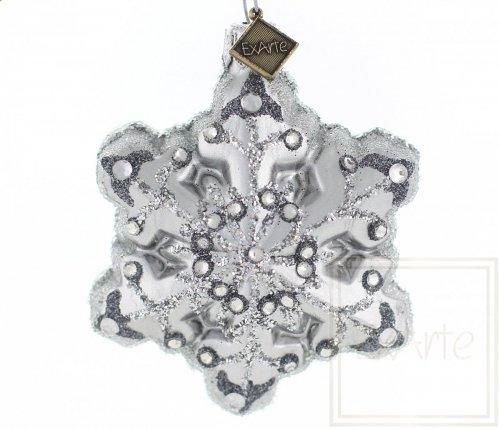 Śnieżynka 7cm - Srebrny płatek