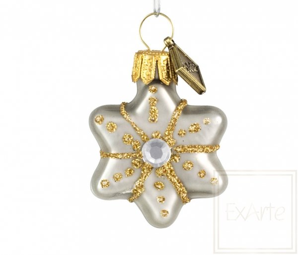 Sterne und Herzen 3cm, 4 Stück - Gold