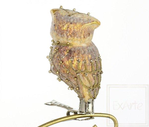 Goldene Eule 8cm