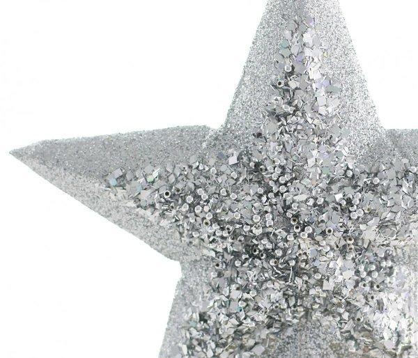 czubek choinkowy gwiazda srebrna