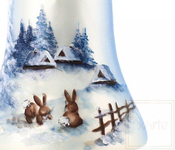 malowane zajączki bombka świąteczna