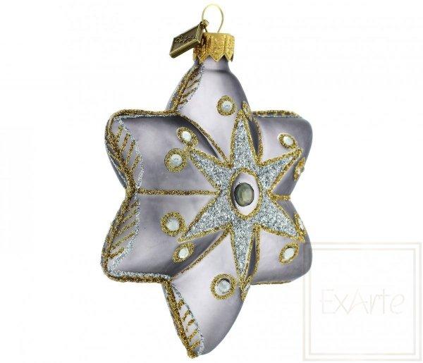 Grau Weihnachtsbaum Stern, szara gwiazda choinkowa