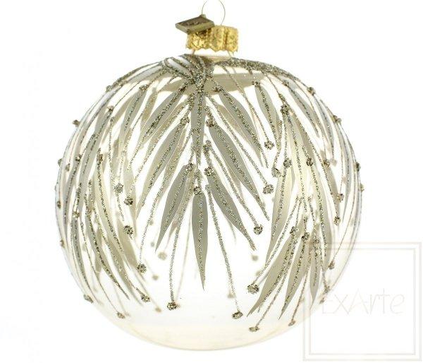transparentna szklana bombka / Transparente Weihnachtskugeln / Transparent christmas tree bauble