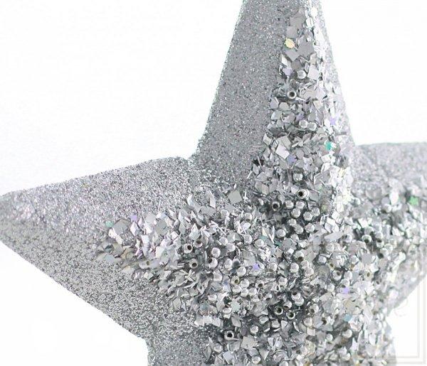 szpic choinkowy srebrna gwiazdka