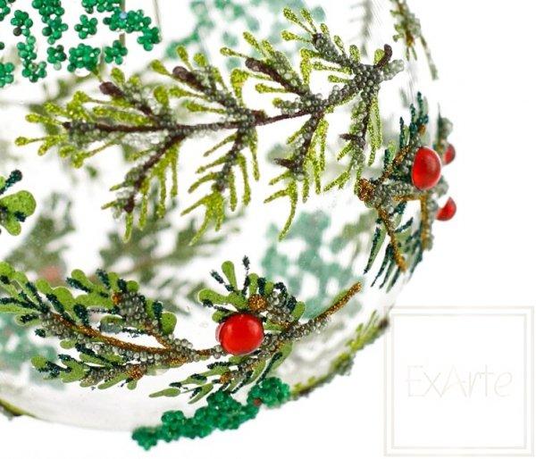 motyw lasu bombka świąteczna