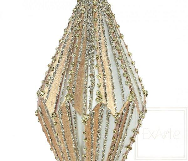zlota dekoracja choinkowa / Diamant 13cm - Goldsaiten