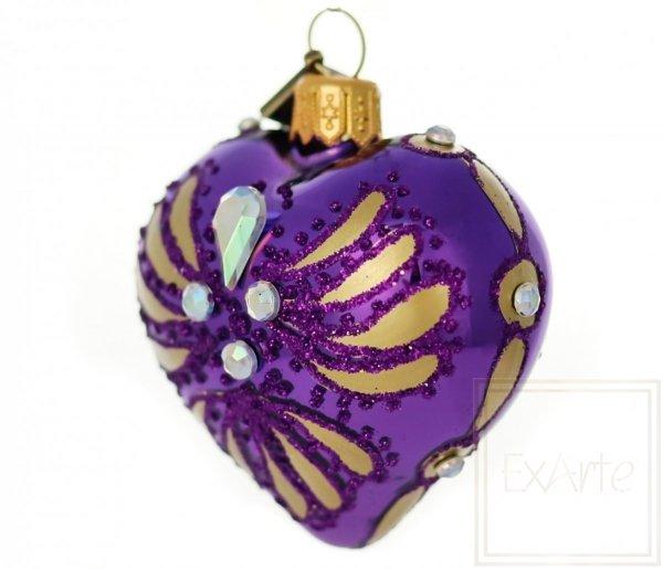 Herz 5 cm - Strahlen auf Violett