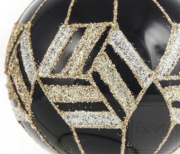 czarna bombka szklana choinkowa / Ball von 8cm - Gold von Ägypten