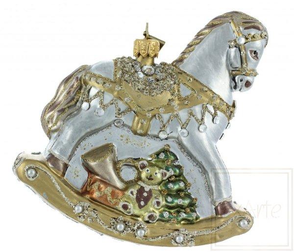 konik na biegunach bombka, pferd Weihnachtskugeln
