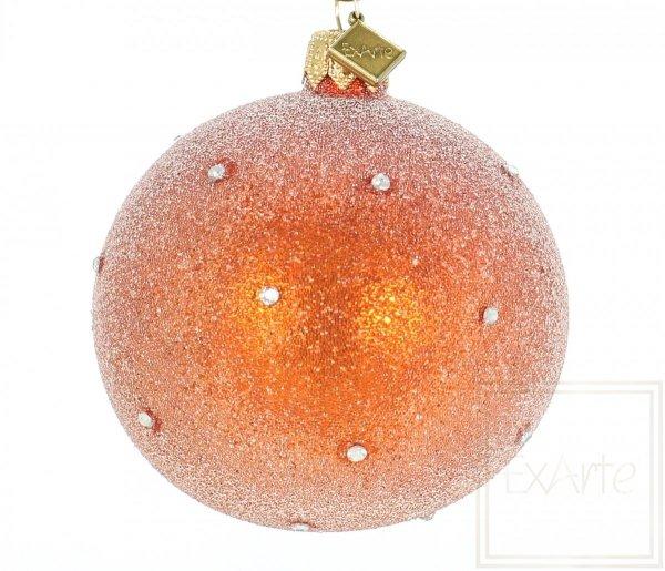 Kugel 8cm, Sternenstaub auf Orangen