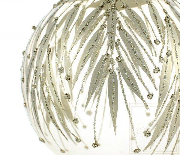 bombka subtelne zdobienia / Transparente Weihnachtskugeln / Transparent christmas tree bauble
